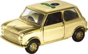 goldplated corgi mini car