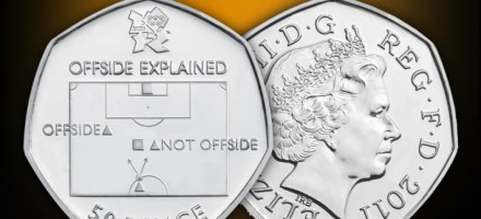 London 2012 Royal Mint Offside Rule Soccer