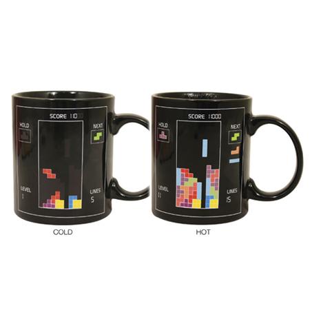 Tetris Heat sensitive mug