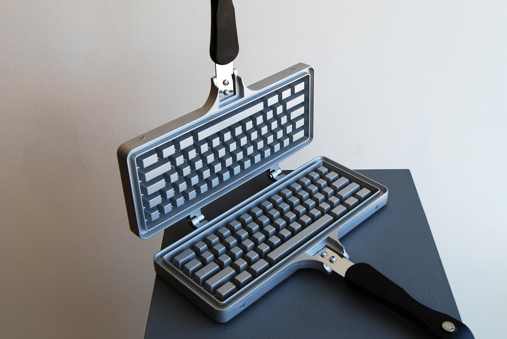 keyboard shaped waffle iron