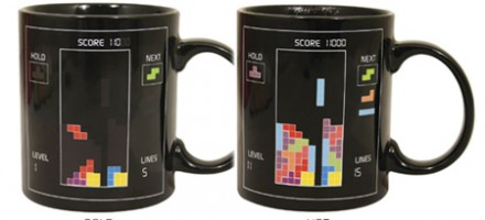 Tetris Heat sensitive mug