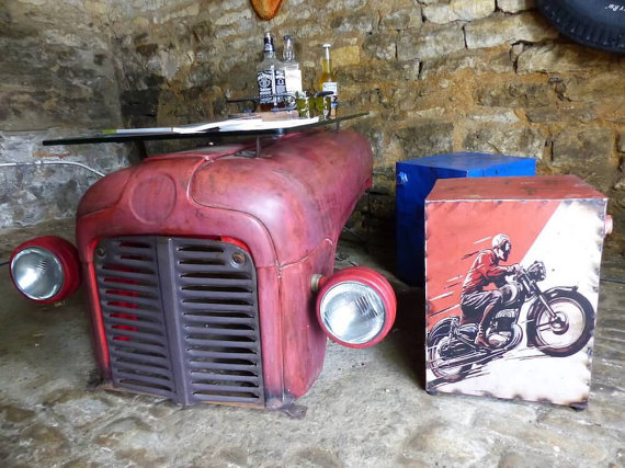 tractor upcycled coffee table