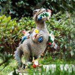 Dinosaur vs Garden Gnomes